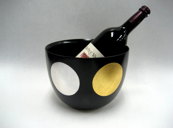 Nichigetsu (Sun and Moon) Black painted Wine Cooler