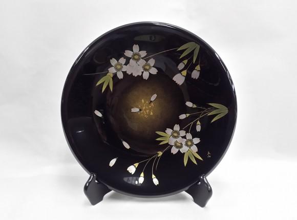 사쿠라(벚꽃)  장식 접시(일본미술전람회 작가: 도미타 리쓰잔 작)
