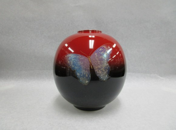 曙 蝴蝶 球形花瓶